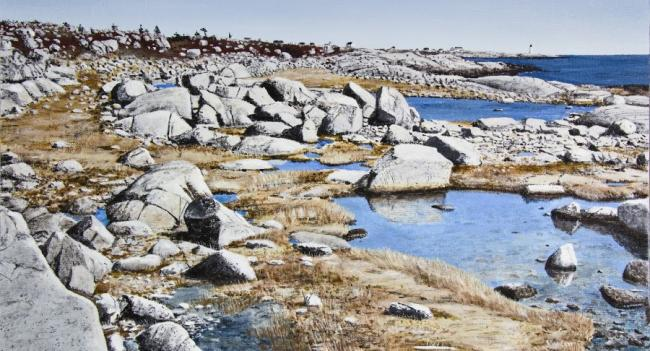 Peggys Cove art festival piece